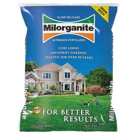 Milorganite 2,500-sq ft Organic Nitrogen Lawn Fertilizer (5-2-0)