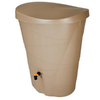 Fiskars 48-Gallon Khaki Plastic Rain Barrel with Diverter and Spigot