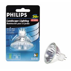 Philips 20-Watt MR16 Base Bright White Halogen Accent Light Bulb