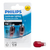 Philips 2-Pack 4-Watt T5 Base Red Halogen Accent Light Bulbs