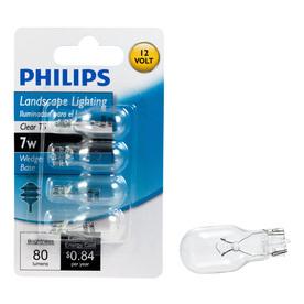 Philips 4-Pack 7-Watt T5 Base Bright White Halogen Accent Light Bulbs