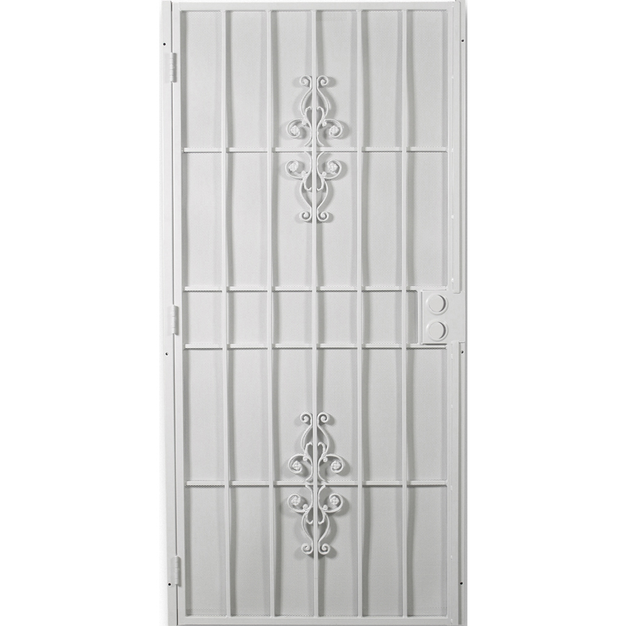 Security doors white security door - White security screen door ...