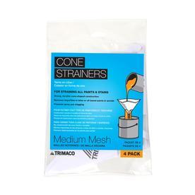 Blue Hawk 4-Pack Plastic Cone Paint Strainer (Fits Container Size: 1-Quart)