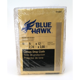 Blue Hawk 10-oz Canvas Drop Cloth (Common: 9-ft x 12-ft; Actual 9-ft x 12-ft)