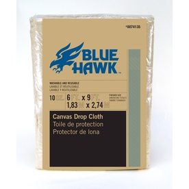 Blue Hawk 9-ft x 6-ft 10 oz Canvas Drop Cloth
