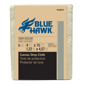 Blue Hawk 15-ft x 4-ft 8 oz Canvas Drop Cloth