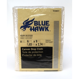 Blue Hawk 9-ft x 6-ft 8 Oz. Canvas Drop Cloth