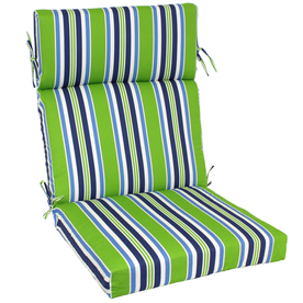 Garden Treasures 46-in L x 22-in W Green Patio Chair Cushion