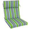 Garden Treasures 46-in L x 22-in W Green Patio Chair Cushion