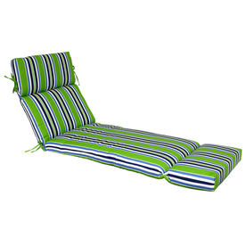 Garden Treasures 73-in L x 23-in W Green Patio Chaise Lounge Cushion
