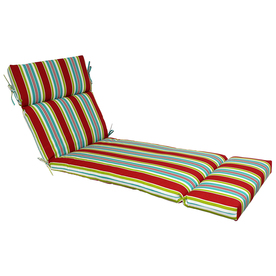 Garden Treasures 73-in L x 23-in W Red Patio Chaise Lounge Cushion