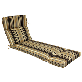Shop allen roth 73 in l x 23 in w black patio chaise for Allen roth steel patio chaise lounge