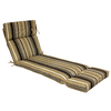 allen + roth 73-in L x 23-in W Black Patio Chaise Lounge Cushion