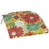 Garden Treasures Multi Floral Blue Reversible Indoor/Outdoor Seat Pad