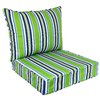 Garden Treasures 48-in L x 25-in W Green Patio Chair Cushion