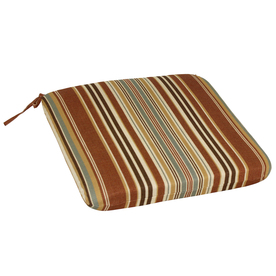 allen + roth Venetian Isle Brown Reversible Indoor/Outdoor Seat Pad