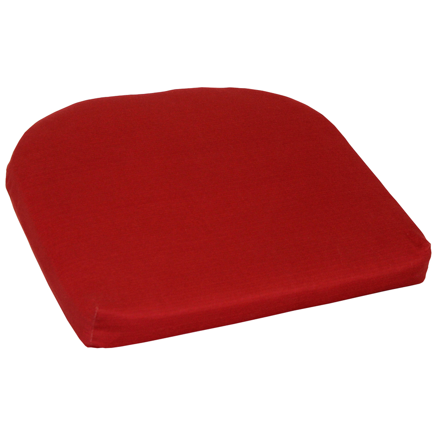 Shop Garden Treasures Red Solid Red Patio Chair Cushion At