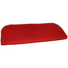 Garden Treasures 41.5-in L x 18-in W Red Bench Cushion or Loveseat Cushion