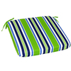 Garden Treasures River Front Green Reversible Indoor/Outdoor Seat Pad