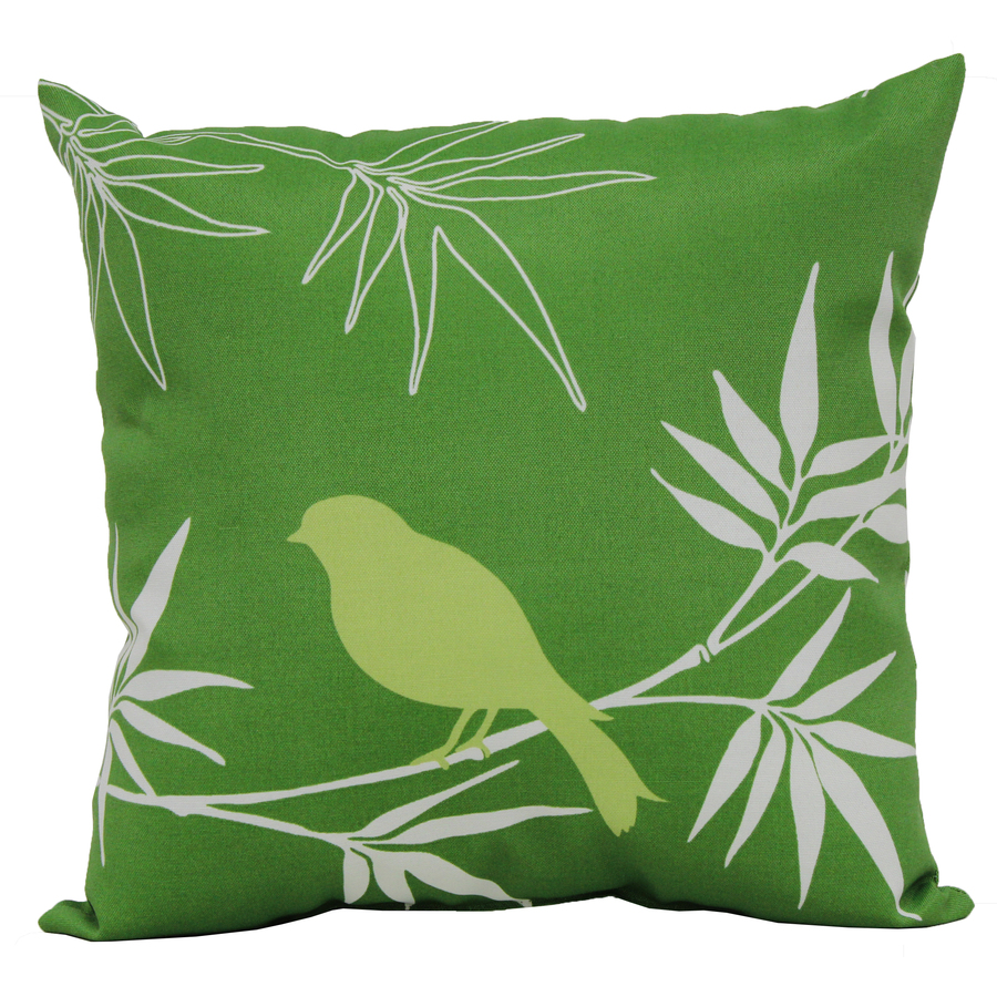 Decorative Pillow Covers Lowes : Shop Garden Treasures Green UV-Protected Square Outdoor Decorative Pillow at Lowes.com