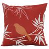 Garden Treasures Red UV-Protected Square Outdoor Decorative Pillow