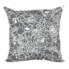 Garden Treasures Gray UV-Protected Square Outdoor Decorative Pillow