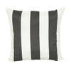 Garden Treasures Gray/White UV-Protected Square Outdoor Decorative Pillow