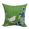 Garden Treasures Green Multicolor Floral Square Outdoor Decorative Pillow