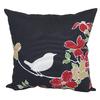 Garden Treasures Black Multicolor Floral Square Outdoor Decorative Pillow