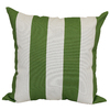 Garden Treasures Green Multicolor Stripe Square Outdoor Decorative Pillow