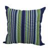 Garden Treasures Blue Multicolor Stripe Square Outdoor Decorative Pillow