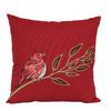 Garden Treasures Red Multicolor Floral Square Throw Outdoor Decorative Pillow