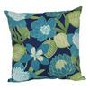 Garden Treasures Blue Multicolor Floral Square Throw Outdoor Decorative Pillow