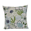 Garden Treasures Green Multicolor Floral Square Throw Outdoor Decorative Pillow