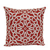 Garden Treasures Coral Multicolor Geometric Square Throw Outdoor Decorative Pillow