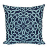 Garden Treasures Blue Multicolor Geometric Square Throw Outdoor Decorative Pillow