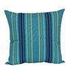Garden Treasures Blue Multicolor Stripe Square Throw Outdoor Decorative Pillow