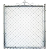 Galvanized Steel Chain-Link Fence Walk-Thru Gate (Common: 3.5-ft x 6-ft; Actual: 3.16-ft x 6-ft)
