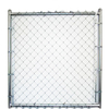 Galvanized Steel Chain-Link Fence Walk-Thru Gate (Common: 4-ft x 8-ft; Actual: 3.66-ft x 8-ft)