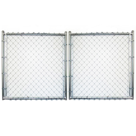 8-ft x 16-ft Galvanized Steel Chain-Link Drive Gate