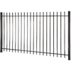 Black Steel Decorative Fence Panel