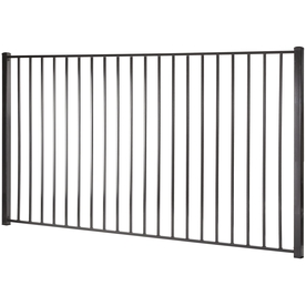 Shop monroe black steel decorative fence panel common 8 ft x 5 ft actual x - Most frequent fence materials ...