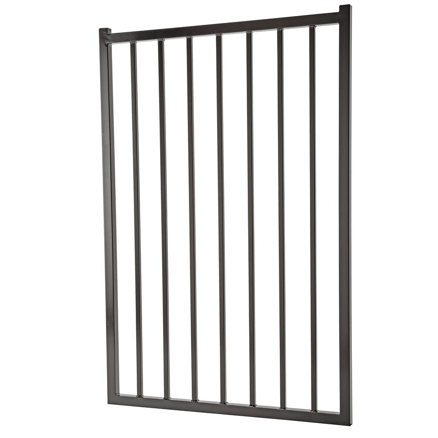 Shop Black Galvanized Steel Fence Gate Common 60 In X 42