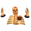 Sienna 1-ft Plastic 8-in Lighted Oozing Brain Skeleton with Beating Heart Groundbreaker
