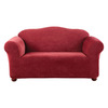 Stretch Pique Garnet Velvet Sofa Slipcover