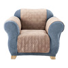 Quilted Suede Brown Duck (Canvas) Chair Slipcover