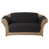 Quilted Duck Black Duck (Canvas) Loveseat Slipcover