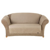 Quilted Duck Brown Duck (Canvas) Loveseat Slipcover
