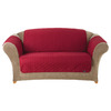 Quilted Duck Red Duck (Canvas) Loveseat Slipcover