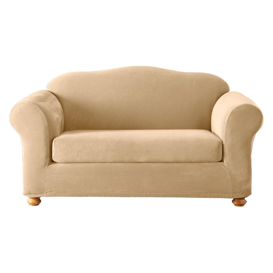 Sure Fit Stretch Pique 2 Piece Sofa Cover In Cream EBay